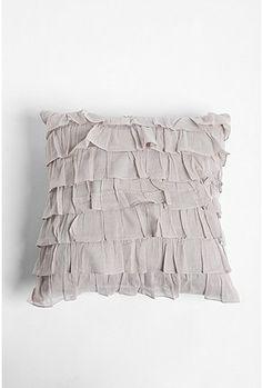 Waterfall Ruffle Pillow- Urban Outfitters