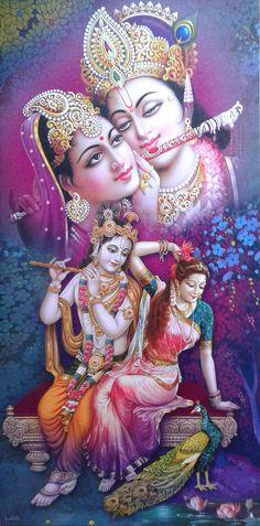 "Lord Shri Krishna with Radha Radhe - POSTER (Exclusive Matte Paper 12""x24"")   Collectibles, Religion & Spirituality, Hinduism   eBay!"