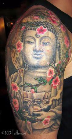 Tattoosday (A Tattoo Blog): Carlos Shares a Buddha Tattoo (NYC Tattoo Convention)