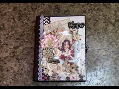 Prima Tales of You and Me Mini Album tutorial, taught by Paper Crafter Shellie Geigle. You can make beautiful scrapbooks with easy tutorials from Shellie! Mini Albums, Diy Mini Album, Mini Photo Albums, Mini Album Tutorial, Mini Scrapbook Albums, Scrapbook Cards, Scrapbooking, Graphic 45, Tutorial Scrapbook