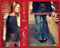Project Party Weekend: 5 Ways to Re-purpose Jeans #2 Denim Apron
