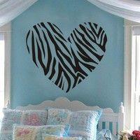 Sweet Heart Creative Heart Removable Wall Art Decal Sticker Decor Mural DIY Vinyl Décor Room Home Bedroom