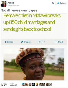 "cvpcakestho: "" asensuality: "" What's her name "" Her name is Theresa Kachindamoto and here's the article x """