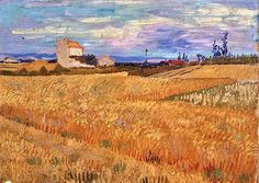 Vincent van Gogh Painting, Oil on Canvas Arles: June, 1888 P. de Boer Foundation Amsterdam, The Netherlands, Europe F: JH: 1475 Image Only - Van Gogh: Wheat Field Van Gogh Gallery Vincent Van Gogh, Gustav Klimt, Landscape Art, Landscape Paintings, Van Gogh Arte, Artist Van Gogh, Van Gogh Landscapes, Van Gogh Paintings, Impressionist