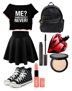 """everyday summer outfit :)"" by moonlight-ari ❤ liked on Polyvore featuring yeswalker, Dsquared2, Laura Mercier and NYX"