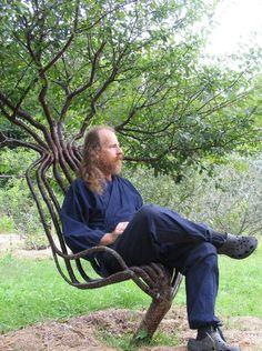 If I had the skills, I would totally make tree furniture