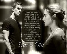 Tris (Shailene Woodley) and Four (Theo James) in Divergent movie Tris Und Four, Divergent Four, Tris And Tobias, Divergent Hunger Games, Divergent Fandom, Divergent Trilogy, Divergent Insurgent Allegiant, Divergent Quotes, Insurgent Quotes