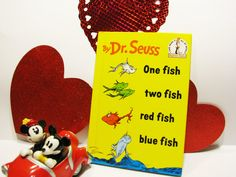 Dr Seuss Vintage Book- One Fish Two fish Red Fish Blue Fish -A book every child should read and own!! by ScrapPantry, $5.25 USD