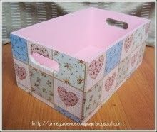 Decoupage en Madera Magic Crafts, Diy And Crafts, Wood Crates, Wooden Boxes, Baby Decor, Kids Decor, Pretty Storage Boxes, Decoupage Vintage, Wood Creations