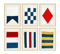 Framed Nautical Flags #potterybarn