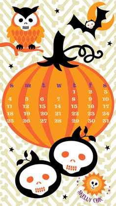 Free Skelly Chic downloads for your desktop & phone; Happy October! www.skellychic.com