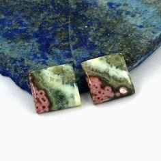 13 mm Multicolor Squre Ocean Jasper Rare Pair Gemstone - Unique Gemstone Healing Pair Gemstone - Wholesaler Exporter