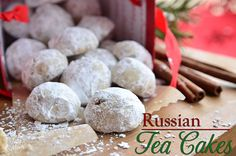 We always called this melt in your mouth cookie Russian Tea Cakes, but they are also known as Wedding Cakes, Pecan Balls, Russian Tea Cakes, Snowballs, Pecan Sandies, Swedish Tea Cakes and many more! recipe at TidyMom.net
