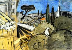 """""""Graveson, Olive Picker"""", Oil On Panel by Auguste Chabaud (1882-1955, France)"""