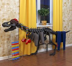 Thermosaurus Radiator by Art Lebedev Studio.  It'd be difficult to find a room where it would match the decor, but a fun idea!
