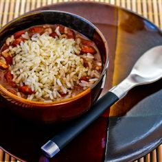 Slow Cooker Louisiana-Style Red Beans and Rice Recipe from Kalyn's Kitchen