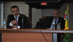 Dr. Tedros and Ambassador Girma address meeting of Ethiopian community