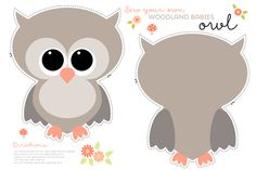 Sew your own baby owl custom fabric by heleenvanbuul for sale on Spoonflower