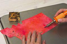 Lutradur  - cutting with stencil cutter