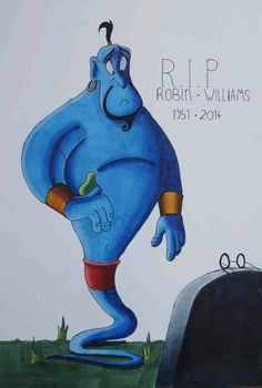 R.I.P (1951-2014) Disney Fan Art, Disney Love, Disney Magic, Disney And Dreamworks, Disney Pixar, Robin Williams Art, Disney Doodles, Walter Elias Disney, Teary Eyes