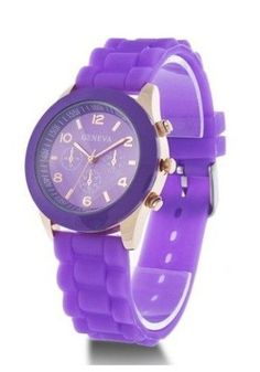 2b3b62cd61df Unisex Geneva Silicone Jelly Gel Quartz Analog Sports Wrist Watch Purple      Find out more at the image link.