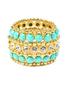 Amrita Singh Plated Resin & Crystal Bracelet