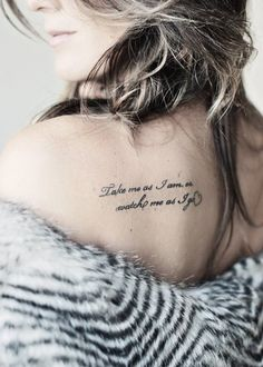 """I like the font and placement as well as the heart at the end, but the quote is too """"I like the smell of my own butthole"""" for me"""