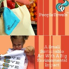 People Towels - Love this idea! I'm buying these from Eco-Baby Buys. Reusable towels that you take with you or use at home instead of disposable paper towels. Reduce your footprint!