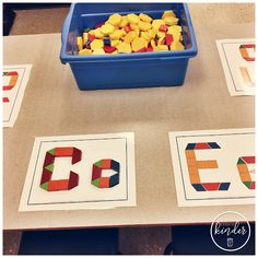 Hi friends! Today I wanted to share some of my favourite alphabet centres with you!I'm hoping that it can become a reference for your weekly centre planning :) ALPHABET PLAY DOUGH MATS Do your k Kindergarten Centers, Kindergarten Writing, Preschool Learning, Kindergarten Activities, Montessori Preschool, Work Activities, Kindergarten Classroom, Educational Activities, Preschool Ideas