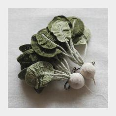 hand crochet jewelry by Japanese artisan Jung Jung
