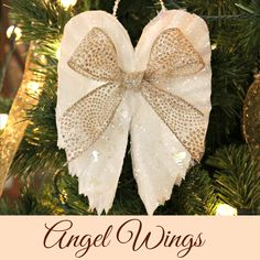 Sparkling Angel Wings Made From Coffee Filters.  EASY  would be great for kids .  could use cupcake liners for mini wings or paper dollies.
