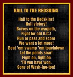 Washington Redskins Fight Song!