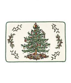 Spode Christmas Tree Bath Rug, want!