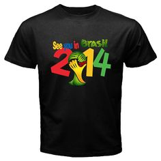 2014 FIFA World Cup See You In Brasil Men's New Black T-Shirt SIZE L ( LARGE ). $16.99, via Etsy.