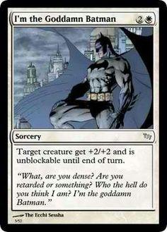 Magic the Gathering/Batman.
