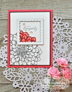 Joyful Creations with Kim: Taylored Expressions Zinnias and Sympathy