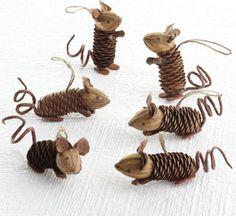 Dennenappels, walnoten en een touwtje..