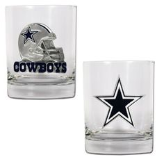 NFL Dallas Cowboys Two Piece Rocks Glass Set - Primary & Helmet Logo Great American Products http://www.amazon.com/dp/B002V38952/ref=cm_sw_r_pi_dp_KdLhub1XTBN3Z