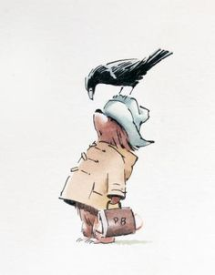Paddington with crow! Two of my favorite things! I've only loved Paddington since forever! Oso Paddington, Teddy Hermann, Children's Book Illustration, Book Illustrations, Studio Ghibli, Childrens Books, Illustrators, Book Art, Character Design