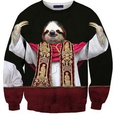 Ugly Christmas Sweater: Sloth Pope Sweater – 'Nuff said