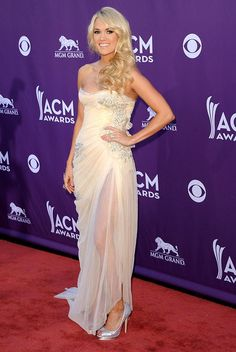 Carrie Underwood in Abed Mahfouz chiffon gown