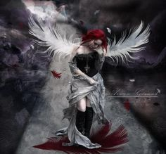 Red headed dark angel