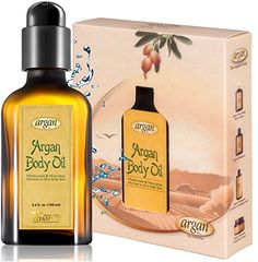 Body Oil for Dry Itchy Skin - Moroccan Argan Skin Care Solution to Soothe, Calm and Hydrate Normal to Sensitive Irritated Skin - Paraben, Alcohol & Sulfate Free >>> More info could be found at the image url.