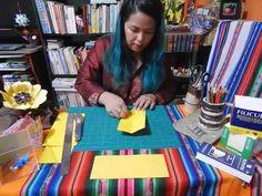 GIrassol de origami -Vamos dobrar?-Pétala -How to