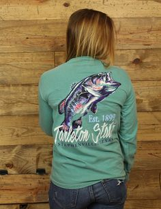 Tarleton State reel in this big bass Comfort Colors short sleeve t-shirt. ONE…