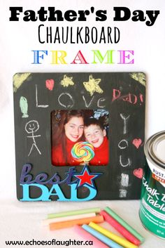 Father's Day Chalkboard Frame