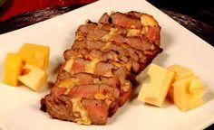 Filé mignon recheado com queijo: veja a receita