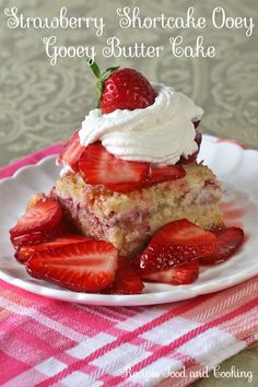 Strawberry  Shortcake Ooey  Gooey Butter Cake