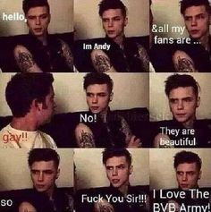 Andy is such an inspiration. Thank you Andy. Thank you Black Veil Brides. Thank you BVB Army. Black Veil Brides Andy, Black Viel Brides, Emo Band Memes, Emo Bands, Music Bands, Rock Bands, Andy Biersack, Jake Pitts, Andy Black