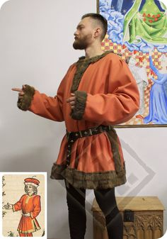 Late 15th century light orange German robe by LadyMalinaCom